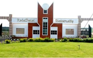 KolaDaisi University School Fees Schedule
